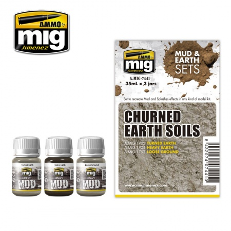 Churned Earth Soils Set 3x35ml 085/A.MIG-7441