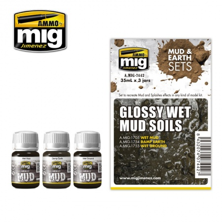 Glossy Wet Mud Soils Set 3x35ml 085/A.MIG-7442