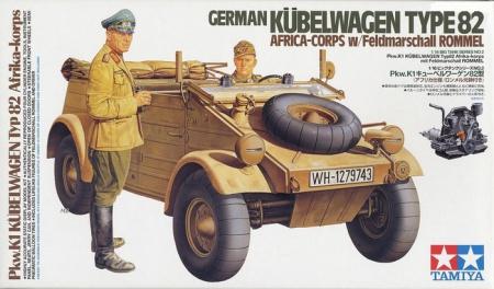 German Kübelwagen Type 82 AFRICA-CORPS w/Feldmarschall ROMMEL