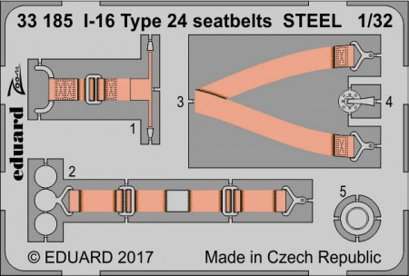 I-16 Type 24 seatbets STEEL  S.A. ZOOM (1:32 ICM) 003/33185