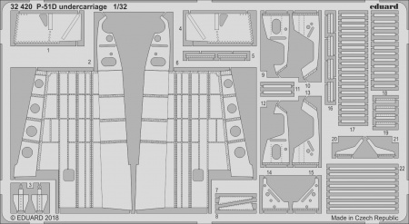 P-51D undercarriage (1:32 Revell) 003/32420