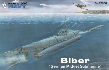 Biber German Midget Submarine 012/SN72006
