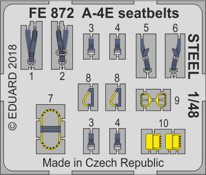 A-4E  seatbelts STEEL S.A. ZOOM (1:48 Hobby Boss) 003/FE872
