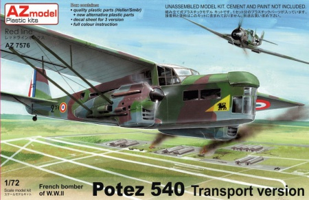 Potez 540 Transport version 052/AZ7576
