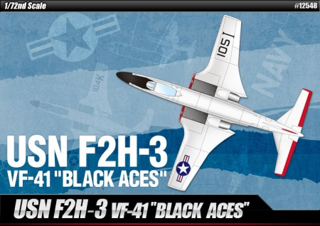 USN F2H-3 VF-41 Black Aces 002/12548