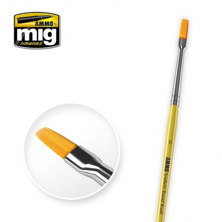 6 Synthetic Flat Brush 085/A.MIG-8621