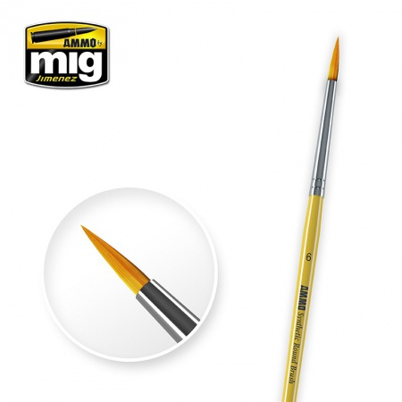 6 Synthetic Round Brush 085/A.MIG-8616
