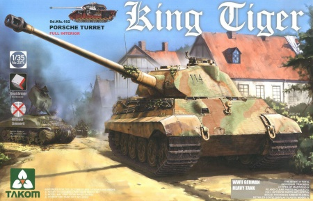 Kingtiger Porsche Turret WII German Heavy Tank Sd.Kfz.183 (w/Interior , without/Zimmerit) 103/2074