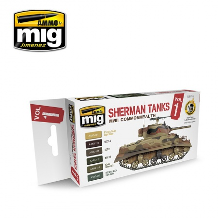 Sherman Tanks Vol. 1 (WWII Commonwealth) Colors 6x17ml 085/A.MIG-7169