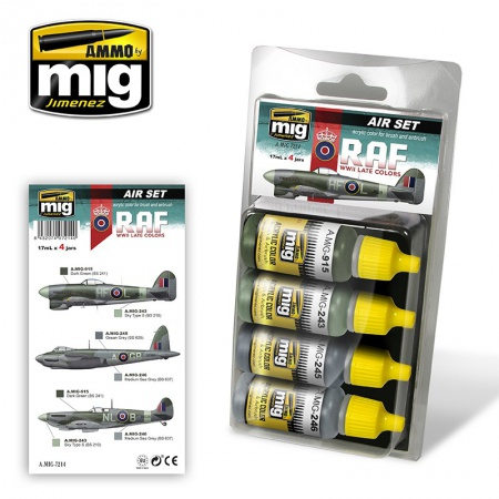 Late WWII RAF Colors Set 4x17ml 085/A.MIG-7214
