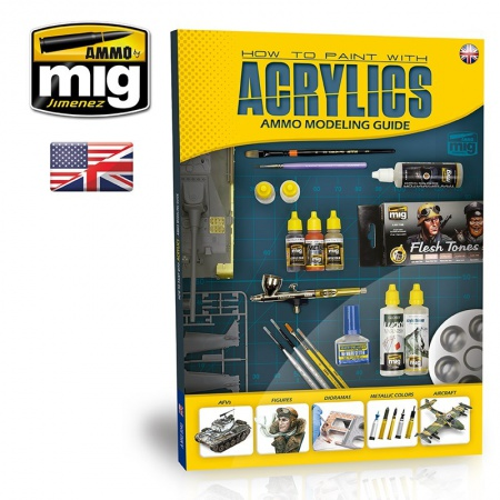 Modelling Guide: How to Paint With Acrylics (English Version) 085/A.MIG-6040