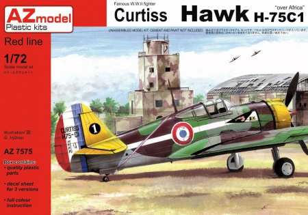 "Curtiss Hawk H-75C1 ""Over Africa"" 052/AZ7575"