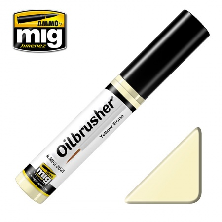 Yellow Bone - Oil paint with fine brush applicator 10ml 085/A.MIG-3521