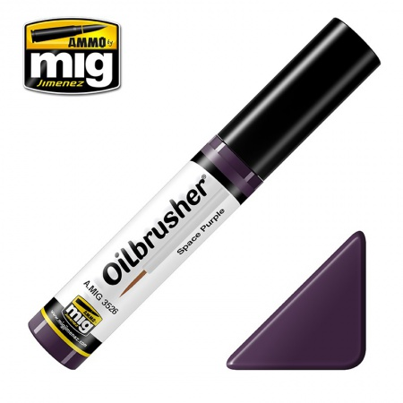 Space Purple - Oil paint with fine brush applicator 10ml 085/A.MIG-3526
