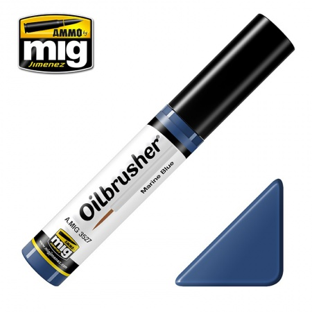 Marine blue - Oil paint with fine brush applicator 10ml 085/A.MIG-3527