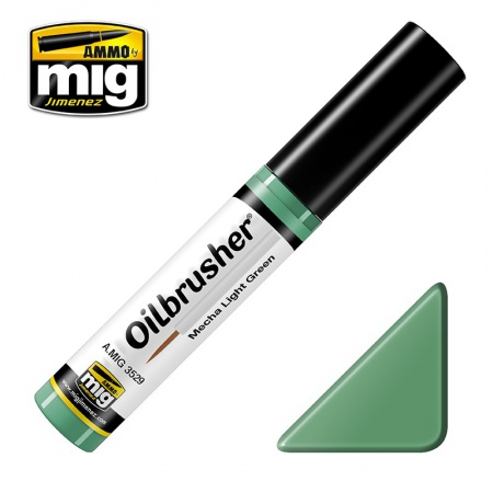 Mecha Light Green - Oil paint with fine brush applicator 10ml 085/A.MIG-3529