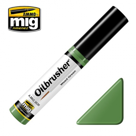 Weed Green - Oil paint with fine brush applicator 10ml 085/A.MIG-3530