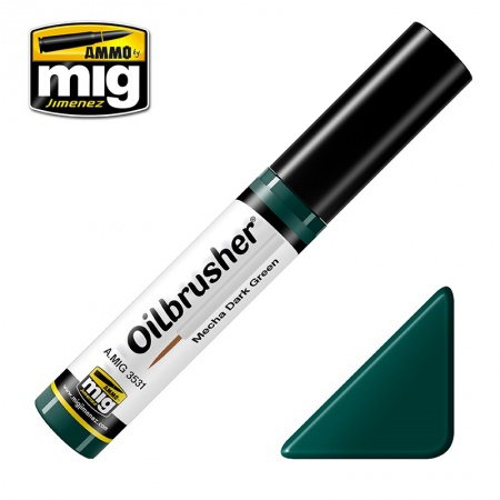 Mecha Dark Green - Oil paint with fine brush applicator 10ml 085/A.MIG-3531