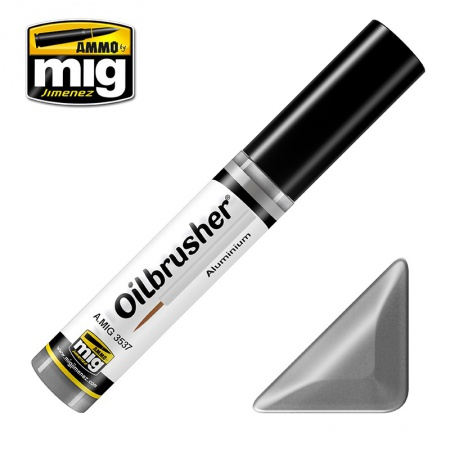 Aluminium - Oil paint with fine brush applicator 10ml 085/A.MIG-3537