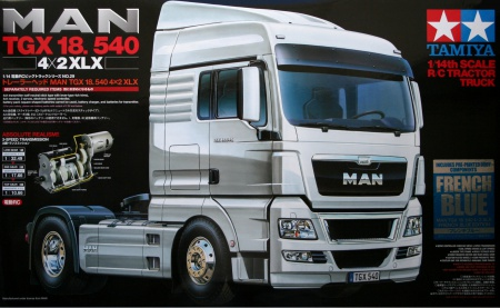RC MAN TGX 18.540 4x2 XLX (French Blue) 001/56350