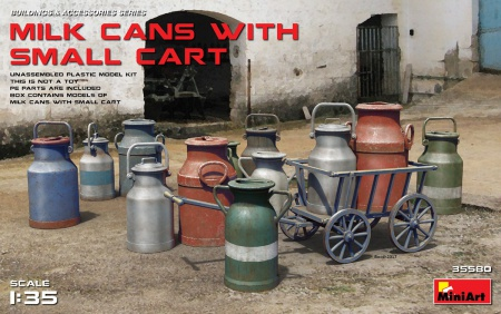 Milk Cans with Small Cart 089/35580