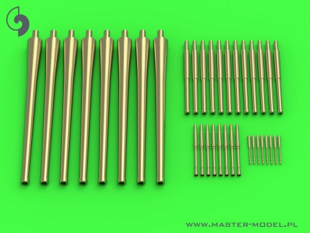 R.N. Zara armament - 203mm (8pcs), 100mm (12pcs), 37mm (8pcs), 13,2mm (8pcs) barrels (for Trumpeter kit) 069/SM-350-098