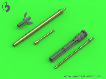 Mi-24 (Hind D/E) - JakB-12.7 machine gun barrel and DUAS probe (metal and resin parts) 069/AM-48-126