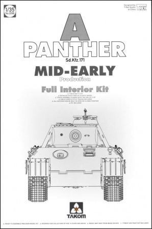 Panther A Sd.Kfz.171 Mid-Early production German Tank w/ full interior kit 103/2098