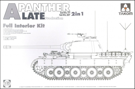 Panther A Sd.Kfz.171 Late production German Tank w/ full interior kit 103/2099