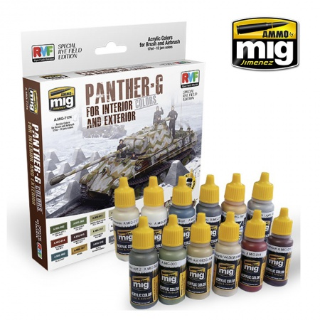 PANTHER-G Colors Set for Interior and Exterior Colors 12x17ml 085/A.MIG-7174