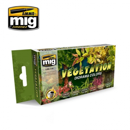 Vegetation Diorama Colors 6x17ml 085/A.MIG-7176
