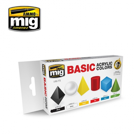 Basic Acrylic Colors 6x17ml 085/A.MIG-7178