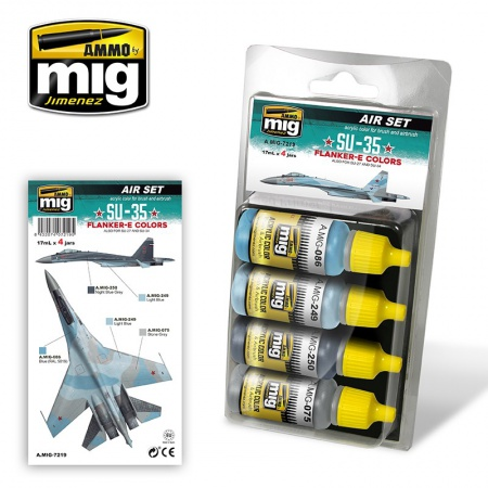 Su-35 Flanker-E Colors Set 4x17ml 085/A.MIG-7219