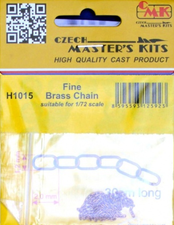 Fine Brass Chain - suitable for 1/72 scale 046/H1015