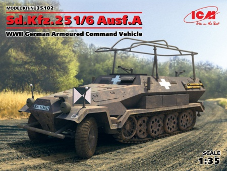 Sd.Kfz.251/6 Ausf.A, WWII German Armoured Command Vehicle 057/35102