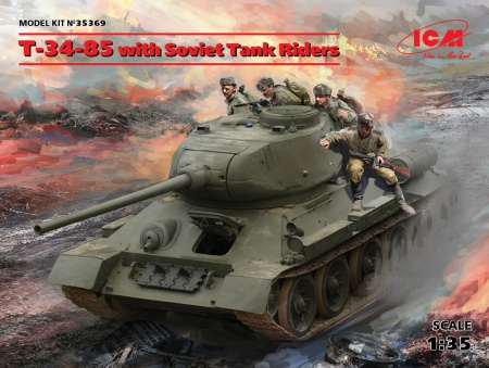 T-34-85 with Soviet Tank Riders 057/35369