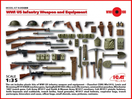 WWI US Infantry Weapon and Equipment 057/35688