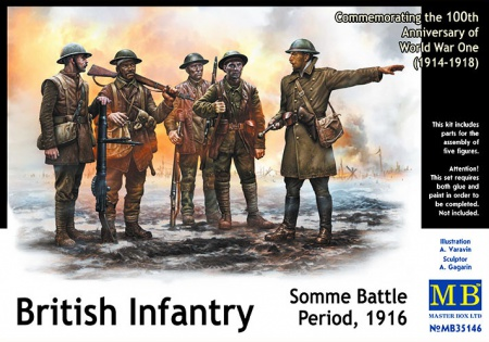 British Infantry, Somme Battle Period 1916 096/MB35146