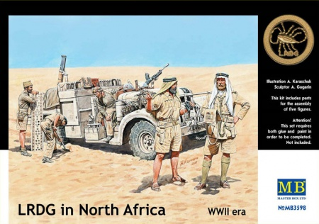 LRDG in North Africa WWII (5 fig.) 096/MB3598