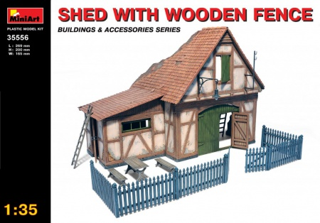 Shed with Wooden Fence 089/35556