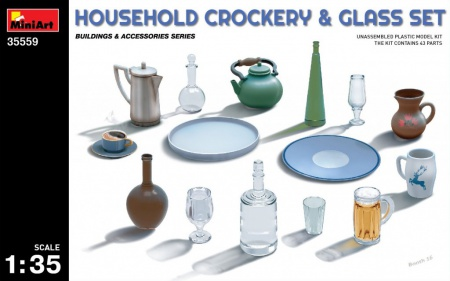 Household Crockery & Glass Set 089/35559