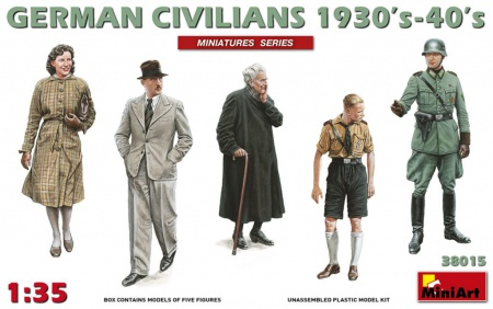 German Civilians 1930s - 40s (5 fig.) 089/38015