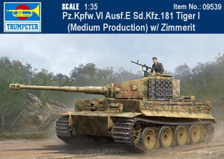 Pz.Kpfw.VI Ausf.E Sd.Kfz.181 Tiger I (Medium Production) w/ Zimmerit 005/09539