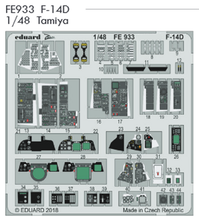F-14D upgrade ZOOM set (Tamiya) 003/FE933