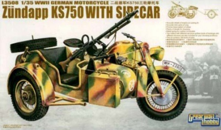 WWII German Motorcycles KS750 Sidecar (Trailer 2 Versions) 063/L3508