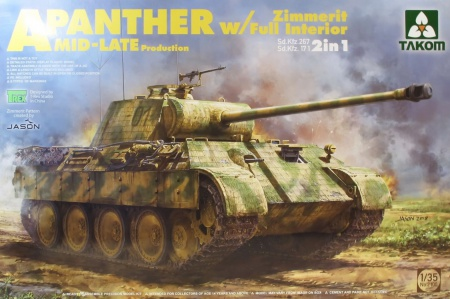Panther A Sd.Kfz.171 Mid-Late production German Tank w/ full interior kit (2in1) 103/2100