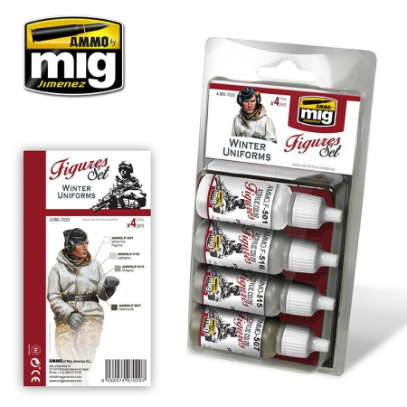 Winter Uniforms Colors 4x17ml 085/A.MIG-7020