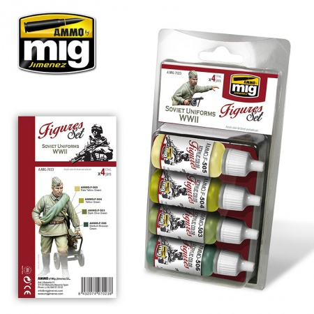 Sovit Uniforms WWII Colors 4x17ml 085/A.MIG-7023