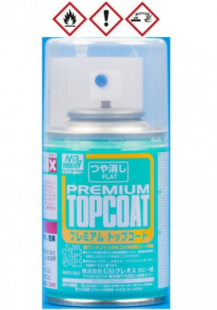 Mr. Premium Top Coat Flat Spray 37ml