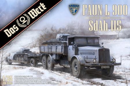 Faun L900 Plus Sd.Ah.115 10t Low Bed Trailer Bundle